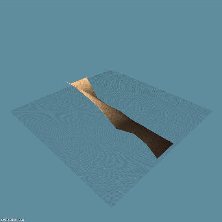 Часть песчаного ландшафта (sbCE_grndPALCST05) [4538] на темном фоне
