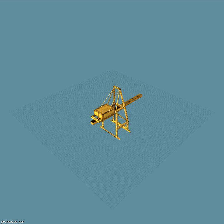 Industrial crane (dockcranescale0) [5126] on the dark background