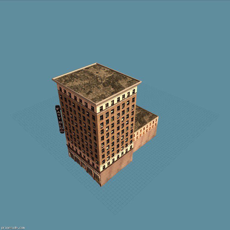 Multi-storey residential building square shape (TaftBldg1_LAwN) [5768] on the dark background