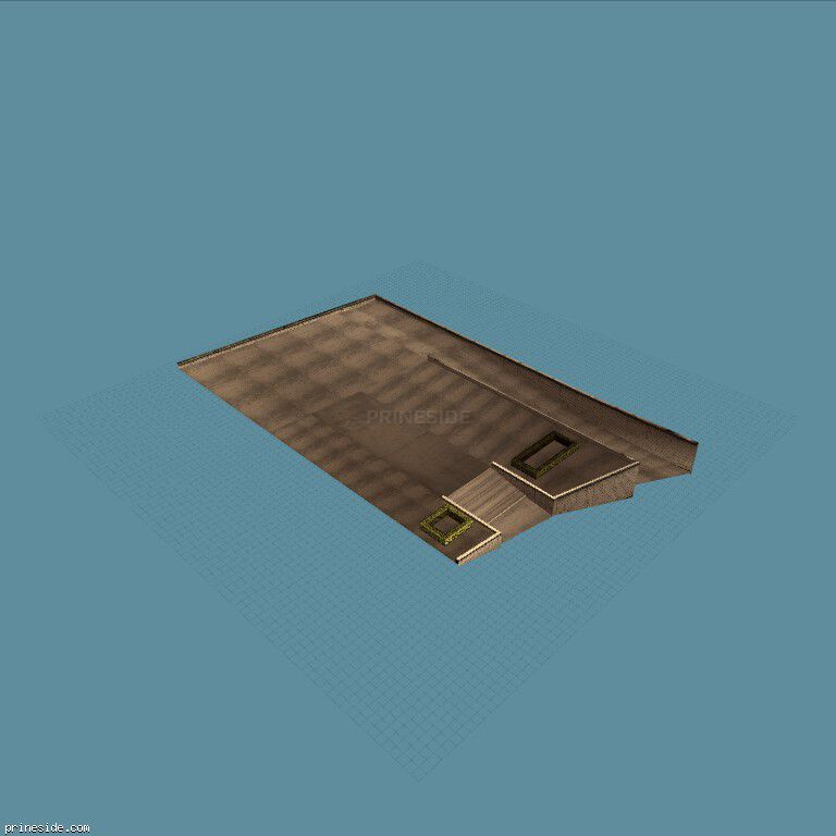 A concrete platform with a small staircase and exit (lawngrndasas) [5845] on the dark background