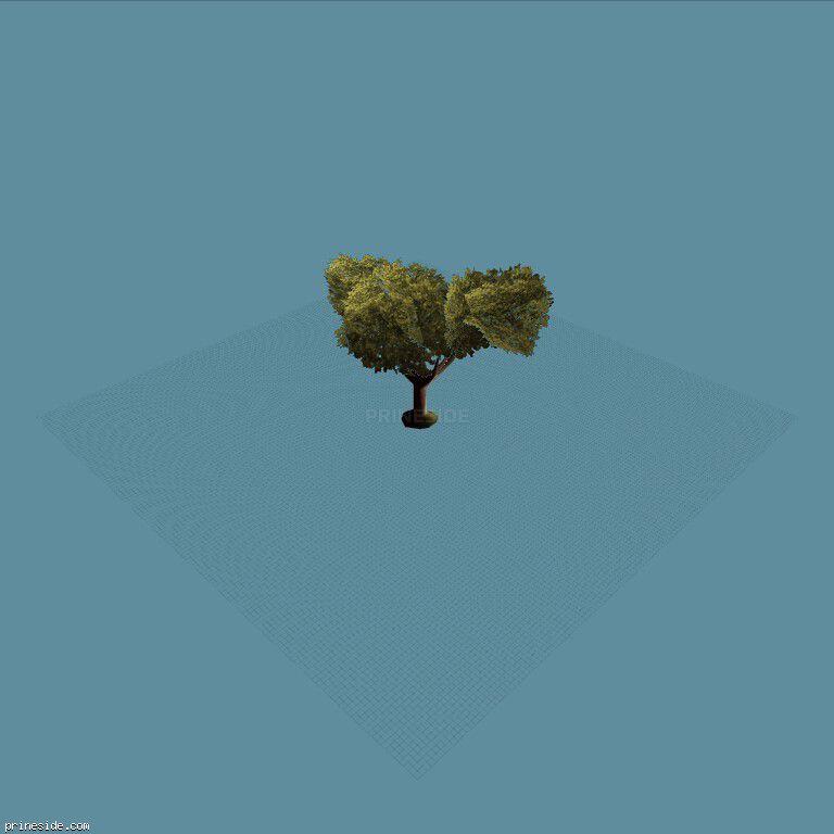 Большое дерево (veg_bevtree2) [714] на темном фоне