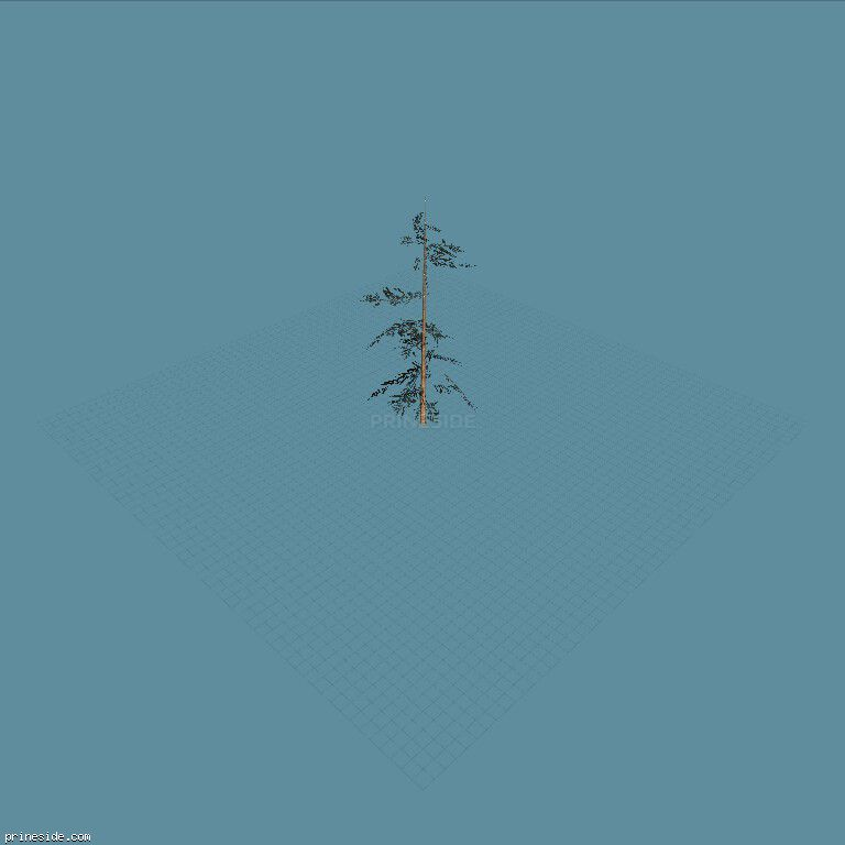 High, the tree is still going (tree_hipoly04) [727] on the dark background