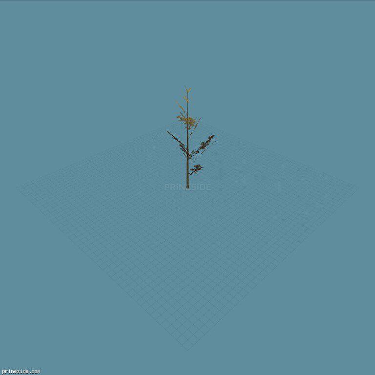 Высокополигональное дерево (tree_hipoly10) [732] на темном фоне