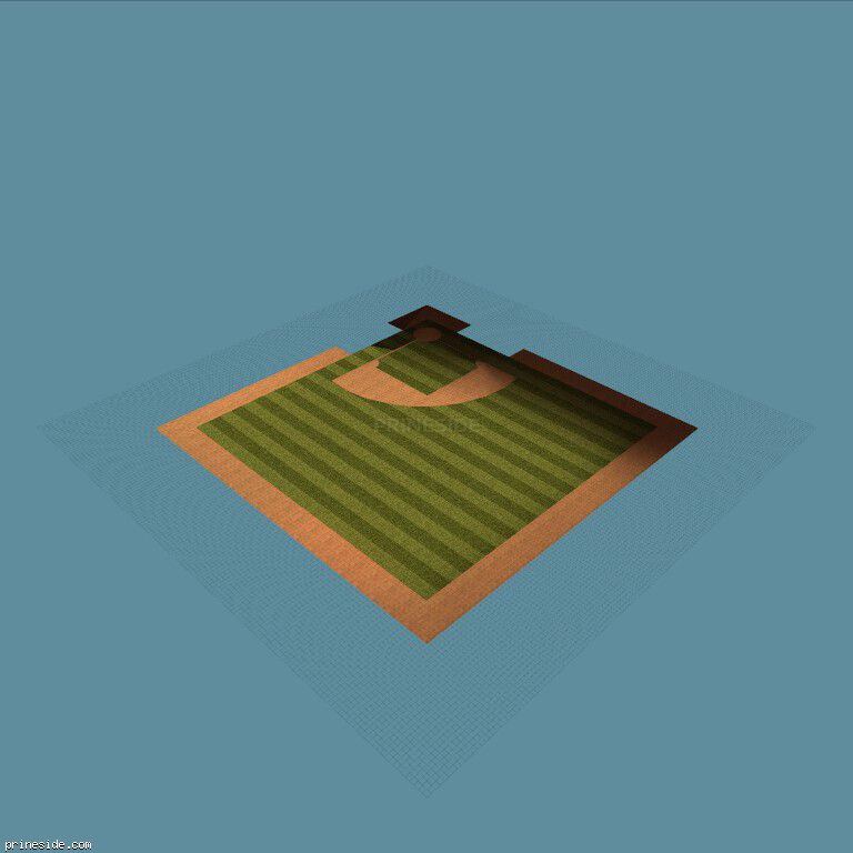 Baseball field (vegasstadgrnd) [7416] on the dark background