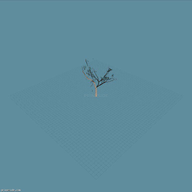 Небольшое дерево (Locust_hi) [769] на темном фоне