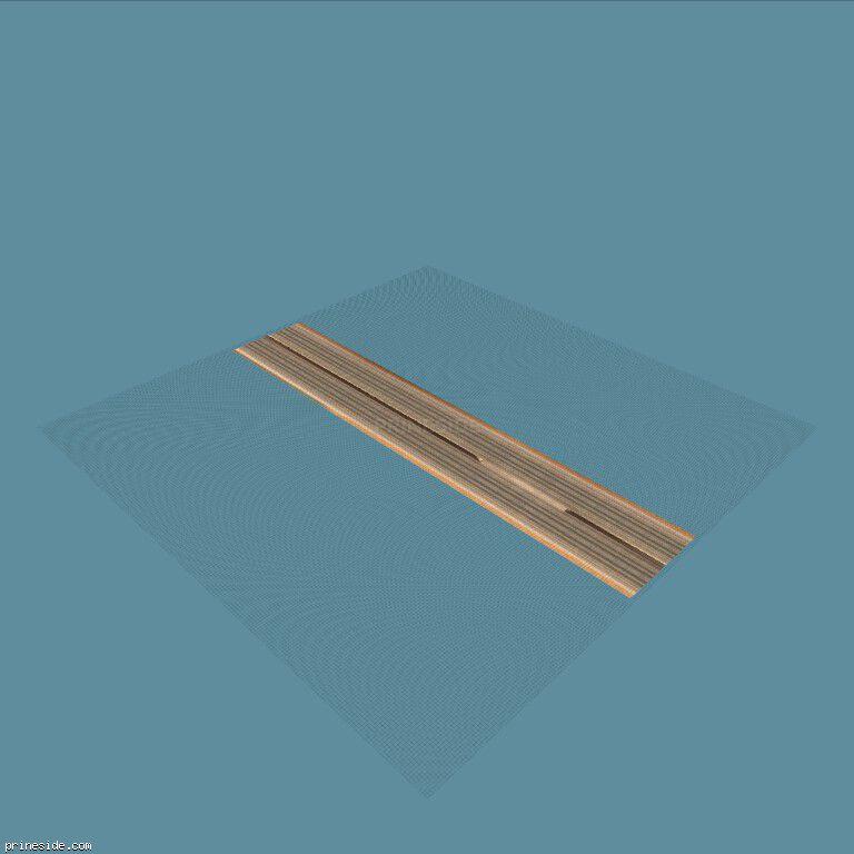 Прямой участок магистральной дороги с местом для разворота (vegasSedge17) [8054] на темном фоне