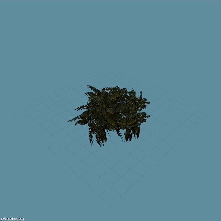 Large Bush (genVEG_tallgrass08) [824] on the dark background