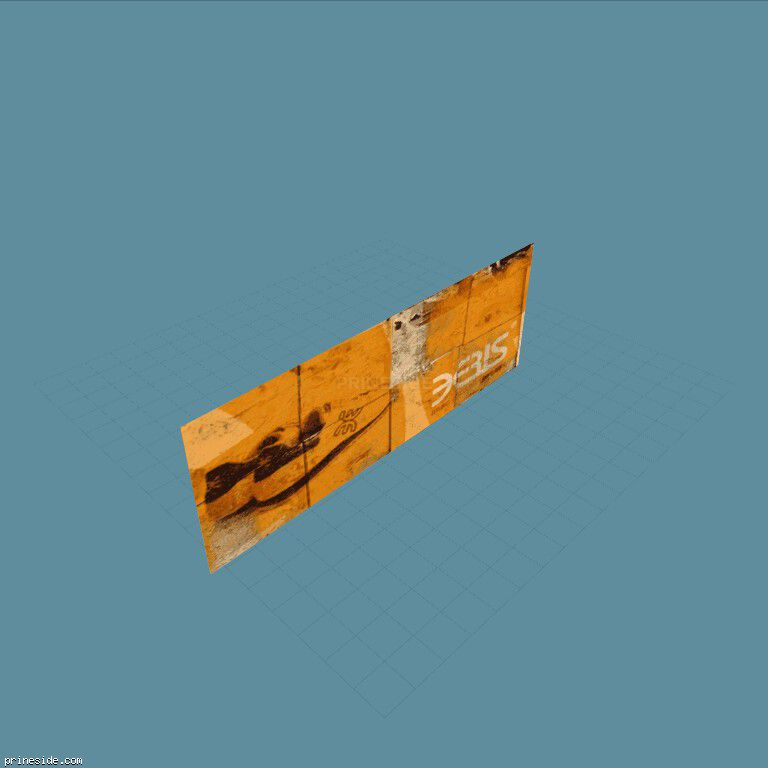 Orange big Board Ebis (vgsbboardsigns17) [8330] on the dark background