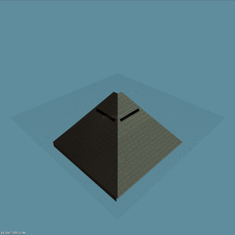 Multi-storey building in the form of a pyramid  (vgEpyrmd_dy) [8395] on the dark background