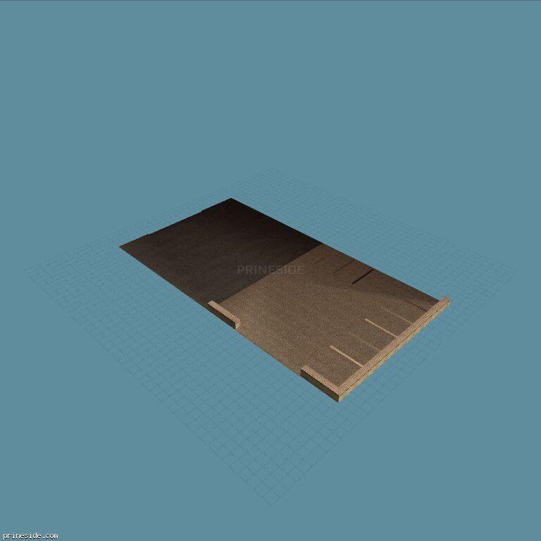 Ровная бетонная площадка с парковкой (vgshpgrnd04_lvS) [8418] на темном фоне