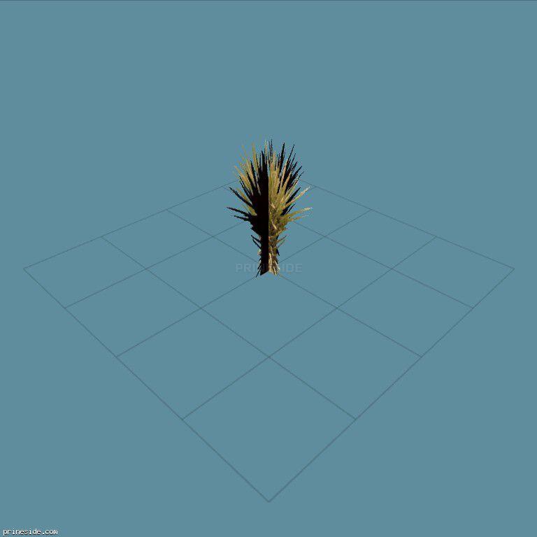Маленький куст (sand_plant02) [861] на темном фоне