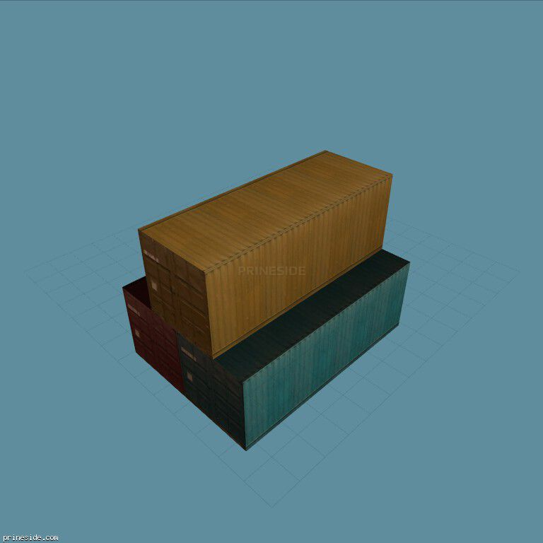 Three stacked container (vgsEfrght04) [8886] on the dark background