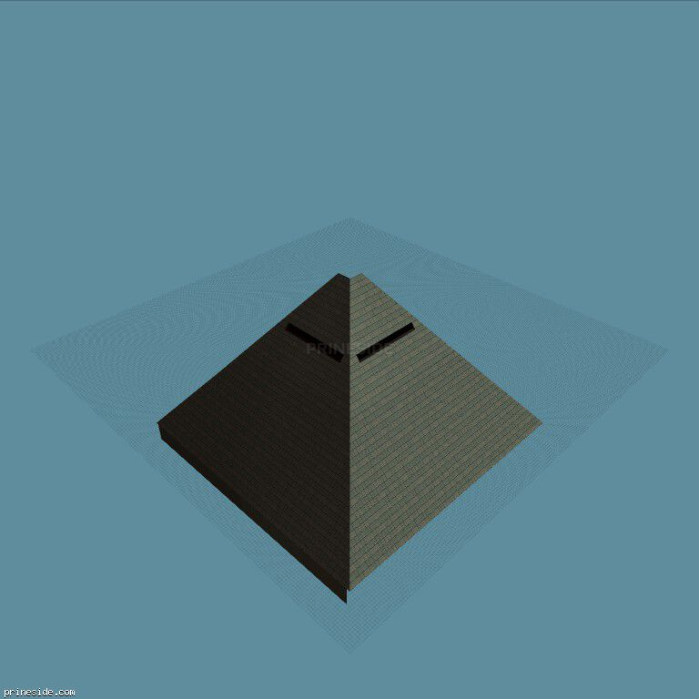 The building in the form of a pyramid (vgEpyrmd_nt) [9104] on the dark background