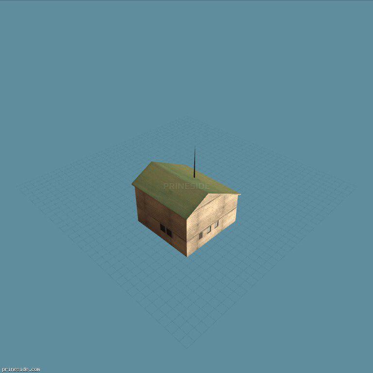 Двухэтажный дом с зеленой крышей (hrbrmstr_SFN01) [9247] на темном фоне