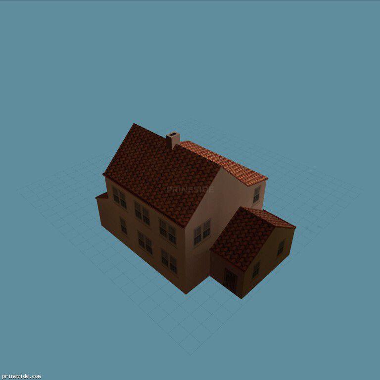 Большой двухэтажный дом (preshoos01_SFN03) [9273] на темном фоне
