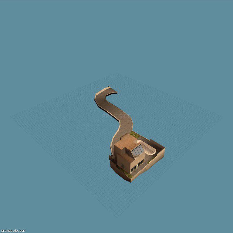 Небольшая вилла с подъездной дорожкой (bigboxtmp05) [9509] на темном фоне