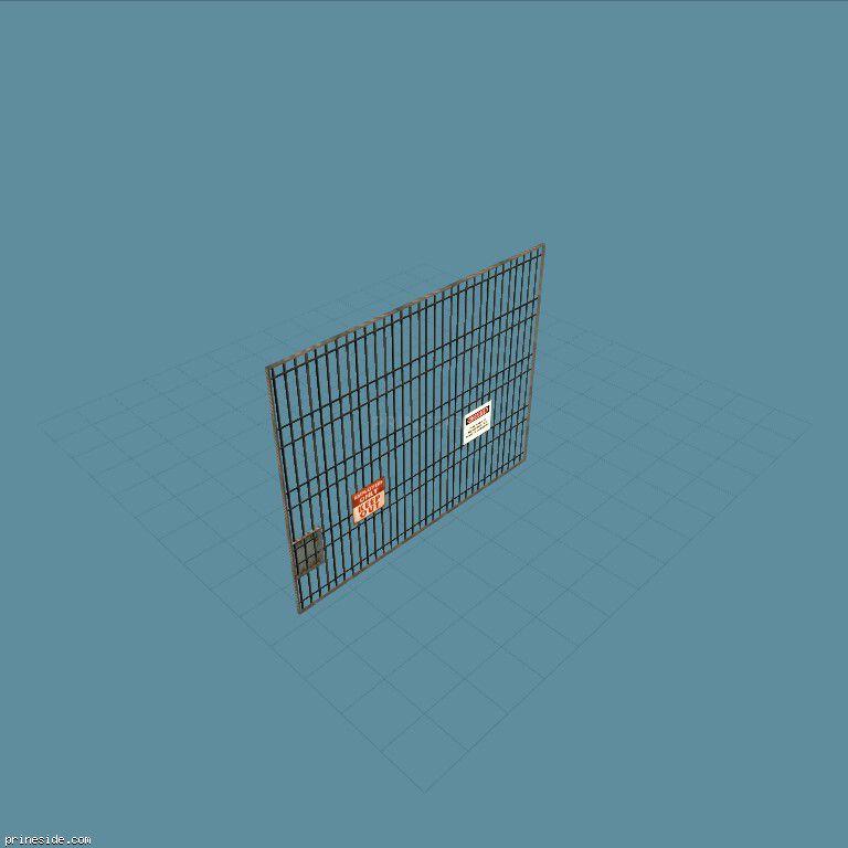 Большие железные решетчатые ворота (subwaygate) [971] на темном фоне