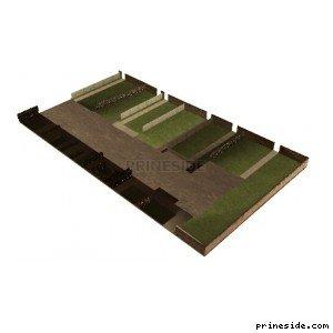 Сады и огороды за домами (OC_FLATS_GND17_SFS) [10415] на светлом фоне