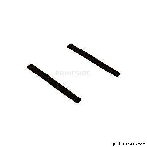 Двойной глушитель на автомобили (exh_lr_sv1) [1129] на светлом фоне
