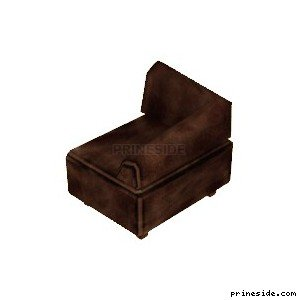 Brown corner chair (couch) (CutsceneCouch1) [11682] on the light background