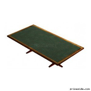 Rectangular green wooden table (CTable2) [11691] on the light background