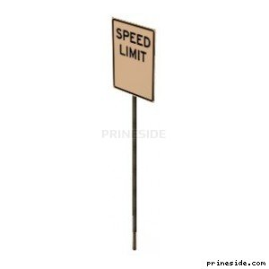 Road sign speed limit (SAMPRoadSign46) [11699] on the light background