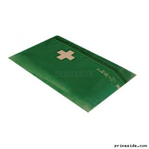 A small first aid kit (MedicalSatchel1) [11736] on the light background