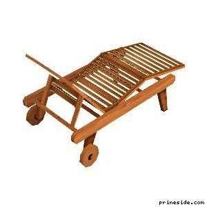 Wooden cot (lounger) [1255] on the light background