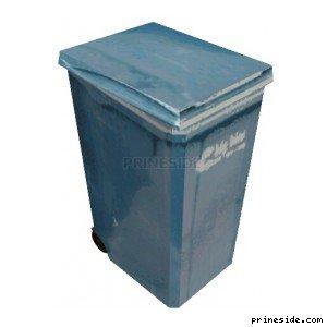 Blue trash can (BinNt09_LA) [1339] on the light background