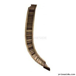 Большая лестница, идущая по кривой (cunte_curvesteps1) [13749] на светлом фоне