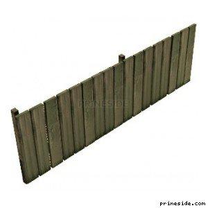 Деревянный забор (DYN_F_R_WOOD_4) [1446] на светлом фоне