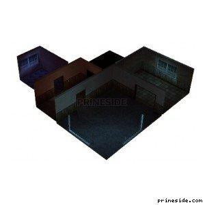 Темный интерьер дома (shitlobby) [14756] на светлом фоне