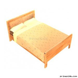 Bright double bed (bobbie-bed01) [14866] on the light background
