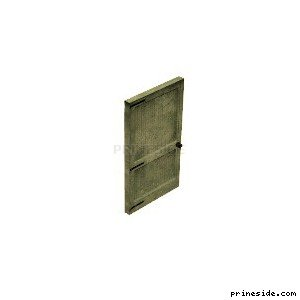 Door dirty pale-green color (Gen_doorINT02) [1492] on the light background