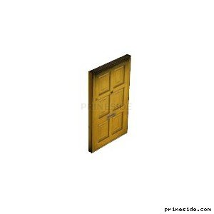 Yellow wooden door (Gen_doorEXT09) [1507] on the light background