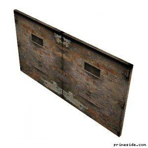 Double steel gates (DYN_GARAGE_DOOR) [1508] on the light background