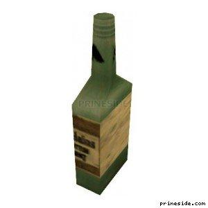 Зеленая бутылка с алкоголем (DYN_WINE_03) [1512] на светлом фоне