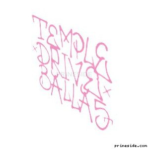 Pink graffiti Temple Drive Ballas (tag_temple) [1529] on the light background