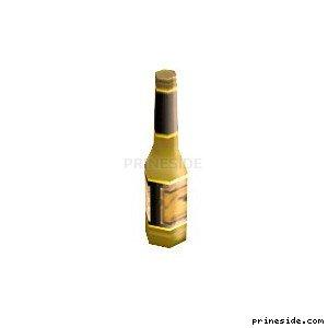 Бутылка светлого пива (CJ_BEER_B_1) [1544] на светлом фоне