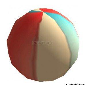 Пляжный мяч (beachball) [1598] на светлом фоне