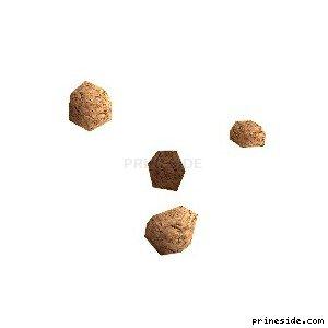 Four stones (des_boulders_) [16104] on the light background
