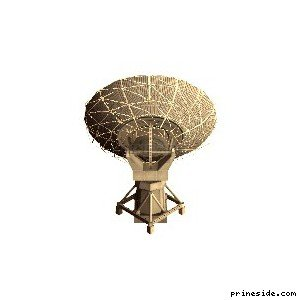 Огромная спутниковая тарелка (des_bigtelescope) [16613] на светлом фоне