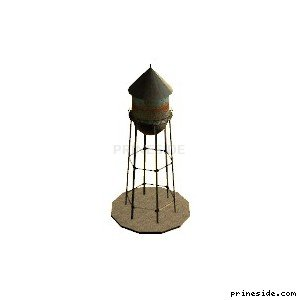 Tower for water storage (wt6suppsxc) [17000] on the light background