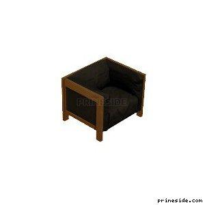 Upholstered chair black (mrk_seating1b) [1724] on the light background