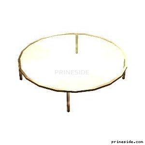 Круглый стеклянный стол (man_sdr_tables) [1827] на светлом фоне