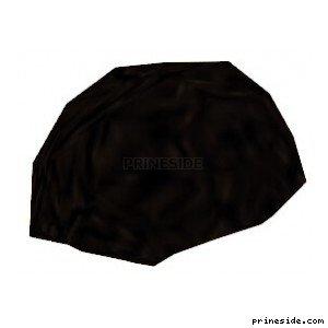 Черный шлем (Hair1) [18640] на светлом фоне