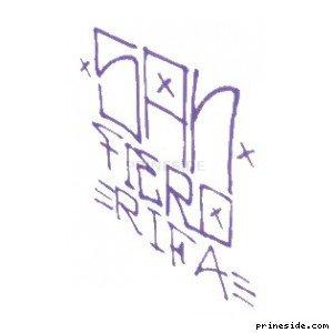 Purple graffiti San Fiero Rifa (SprayTag5) [18663] on the light background