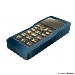 Синий мобильный телефон (MobilePhone2) [18866] на светлом фоне