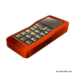 Mobile phone red color (MobilePhone3) [18867] on the light background