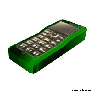 Green mobile phone (MobilePhone7) [18871] on the light background